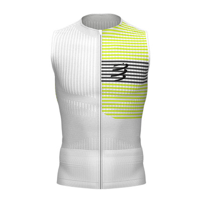 COMPRESSPORT - Tri Postural Tank Top Homme WHITE