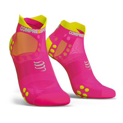 COMPRESSPORT - PRORACING V3 RUN LOW - Chaussettes pink melange
