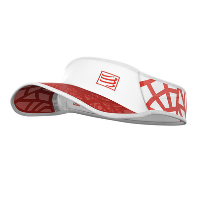 COMPRESSPORT - SPIDERWEB ULTRALIGHT - Visiera red/white