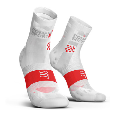 COMPRESSPORT - Pro Racing Socks v3.0 Ultralight Run High Unisexe WHITE