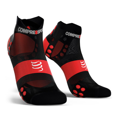 COMPRESSPORT - Pro Racing Socks v3.0 Ultralight Run Low Unisexe BLACK/RED