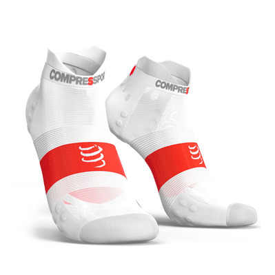 COMPRESSPORT - PRO RACING V3.0 ULTRALIGHT RUN LOW - Chaussettes white