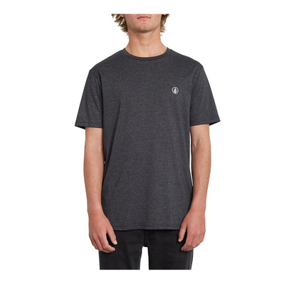 VOLCOM - CIRCLE BLANKS HTH - T-Shirt - Men's - heather black