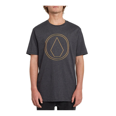 VOLCOM - PINNER HTH - Tee-shirt Homme heather black