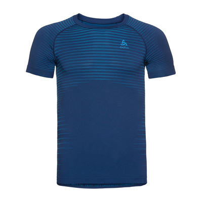 ODLO - BL TOP Crew neck s/s PERFORMANCE LIGHT Homme estate blue - blue aster