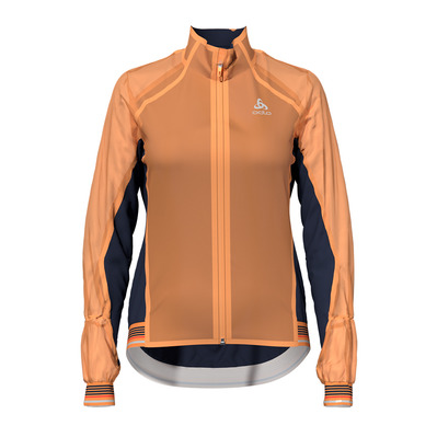 ODLO - Jacket ZEROWEIGHT DUAL DRY Femme papaya - diving navy