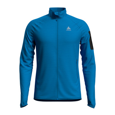 ODLO - Midlayer full zip STEAM Homme blue aster melange