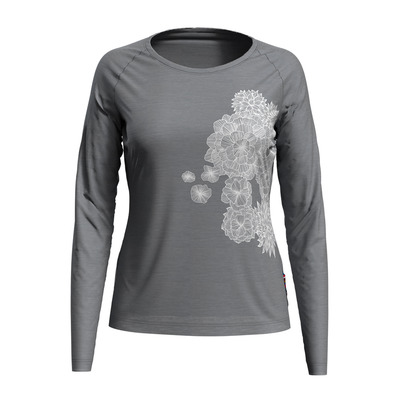 ODLO - CONCORD - T-shirt Donna grey melange/bloom print