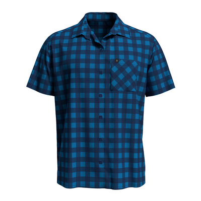 ODLO - Shirt s/s MYTHEN Homme blue aster - estate blue - check
