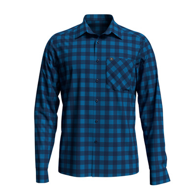 ODLO - Shirt l/s MYTHEN Homme blue aster - estate blue - check