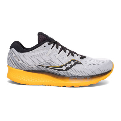 SAUCONY - RIDE ISO 2 - Chaussures running Homme grey/yellow