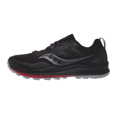 SAUCONY - PEREGRINE 10 Homme BLACK/RED