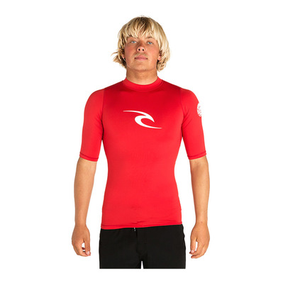 RIP CURL - CORPO S/SL UV TEE Homme RED
