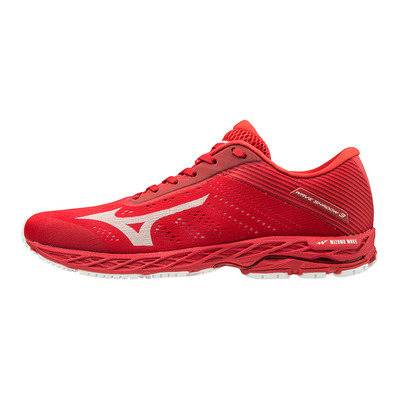 MIZUNO - WAVE SHADOW 3 - Chaussures running Homme high risk red/white