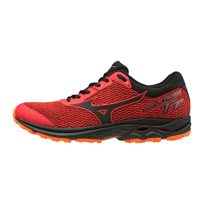 MIZUNO - WAVE RIDER TT - Chaussures running Homme high risk red/black/orange