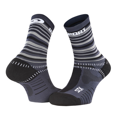 BV SPORT - STX EVO COLLECTOR - Calcetines gris/negro