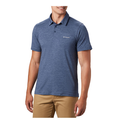 COLUMBIA - TECH TRAIL - Polo Homme dark mountain