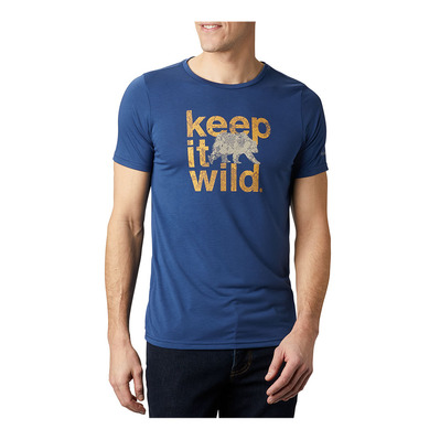 COLUMBIA - Terra Vale II SS Tee Homme Carbon Keep It Wild