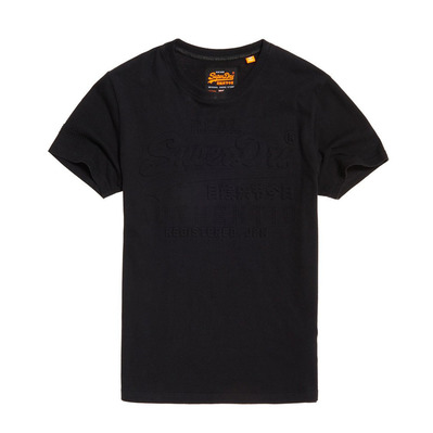 VINTAGE AUTHENTIC EMBOSSED - Tee-shirt Homme black