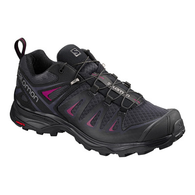 SALOMON - X ULTRA 3 - Zapatillas de senderismo mujer graphite/black/beet red