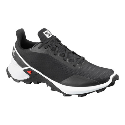SALOMON - ALPHACROSS - Chaussures trail Homme black/white/monument