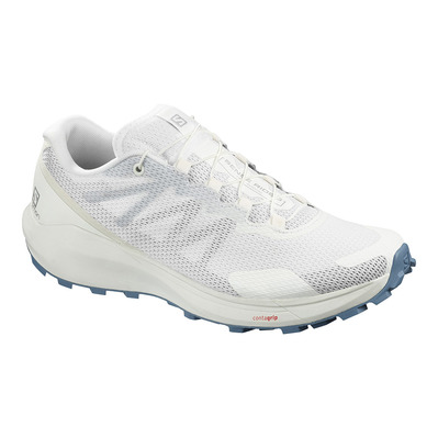 SALOMON - SENSE RIDE 3 - Chaussures trail Femme white/white/bluestone