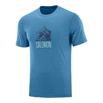 SALOMON - T Shirt EXPLORE GRAPHIC SS TEE M Fjord Homme FJORD BLUE