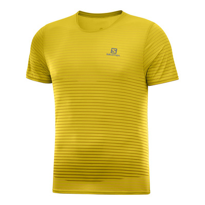 SALOMON - SENSE - Camiseta hombre lemon curry/green gabels