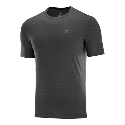 SALOMON - T Shirt XA TEE M Black/Heather Homme BLACK/HEATHER
