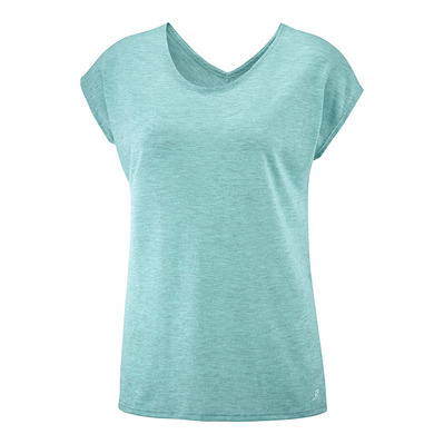 SALOMON - T Shirt COMET SS TEE W/ HEATHER Meadowb Femme MEADOWBROOK/HEATHER