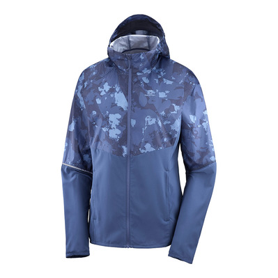 SALOMON - AGILE FZ HOODIE W DARK DENIM/AO Femme DARK DENIM/AO