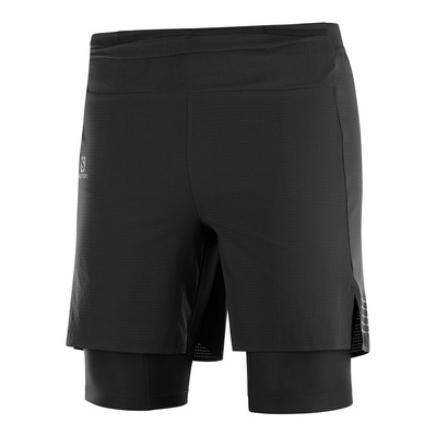 SALOMON - EXO MOTION TWINSKIN - Short hombre black