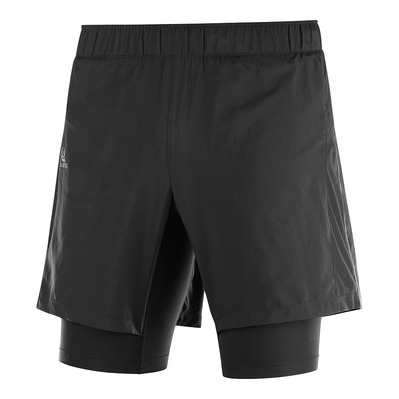 SALOMON - AGILE TWINSKIN - Short 2 en 1 Homme black