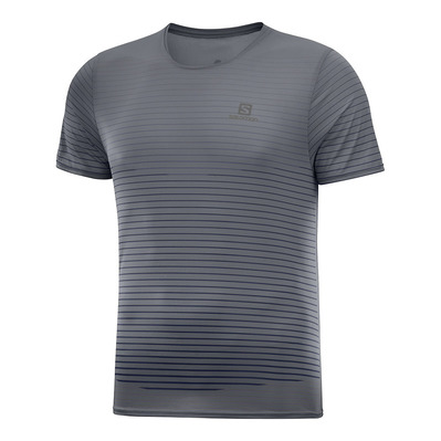 SALOMON - T Shirt SENSE TEE M Ebony/Black Homme EBONY/BLACK