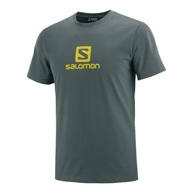 SALOMON - COTON LOGO - Tee-shirt Homme green gables/lemon curry