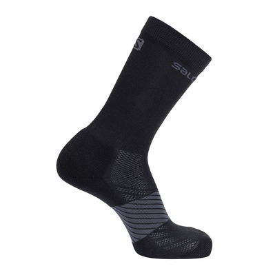 SALOMON - Socks XA 2-PACK Black/Black Unisexe LIGHT GREY HEATHER/MEDIUM GREY HEAT