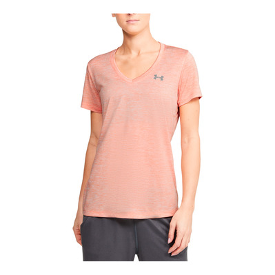 UNDER ARMOUR - TWIST - Maillot Femme peach frost/metallic silver