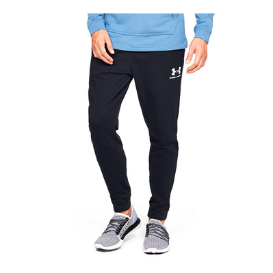 UNDER ARMOUR - SPORTSTYLE TERRY - Pantaloni da tuta Uomo black/onyx white