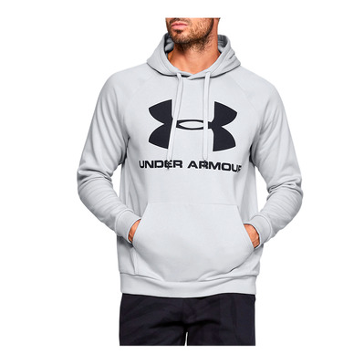 UNDER ARMOUR - RIVAL FLEECE SPORTSTYLE LOGO HOODIE-GRY Homme Halo Gray/Black