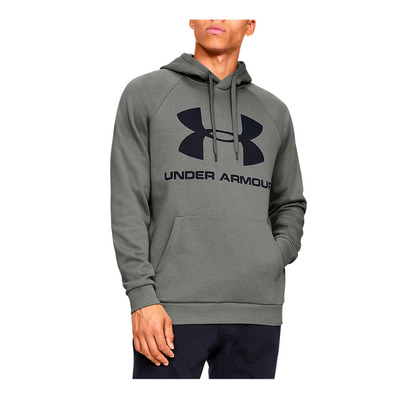UNDER ARMOUR - RIVAL FLEECE SPORTSTYLE LOGO HOODIE-GRN Homme Gravity Green/Black
