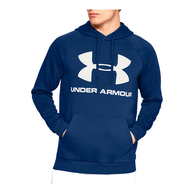 UNDER ARMOUR - RIVAL FLEECE SPORTSTYLE LOGO HOODIE-BLU Homme American Blue/Onyx White