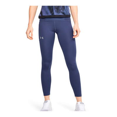 UNDER ARMOUR - UA QUALIFIER - Legging Femme blue ink/blue ink/reflective