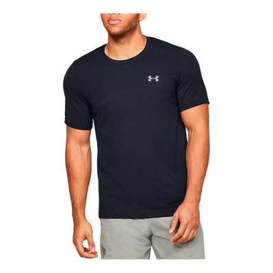UNDER ARMOUR - SEAMLESS - T-shirt Uomo black/mod gray