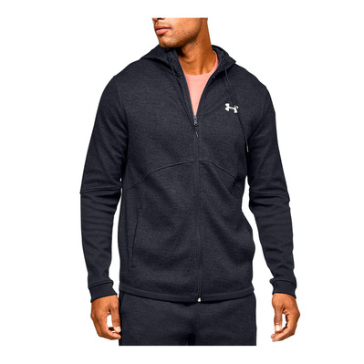 UNDER ARMOUR - DOUBLE KNIT FZ HOODIE-BLK Homme Black/Onyx White