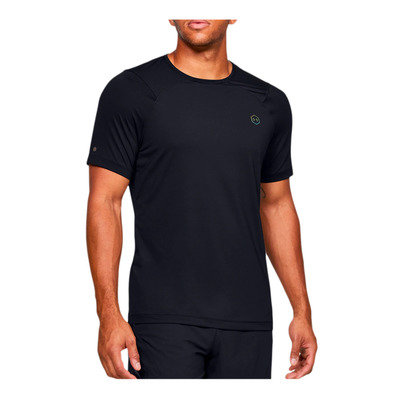 UNDER ARMOUR - RUSH HG FITTED - Camiseta hombre black/black