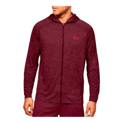 UNDER ARMOUR - UA TECH 2.0 FZ HOODIE-RED Homme Cordova/Beta