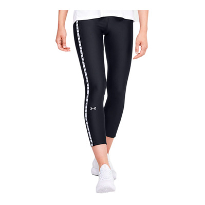 UNDER ARMOUR - UA HG ARMOUR VERTICAL - Legging Femme black/white/metallic silver