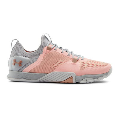 UNDER ARMOUR - TRIBASE REIGN 2 - Chaussures training Femme peach frost/halo gray/calla