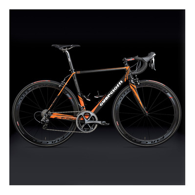 Guerciotti EUREKA EVO CAMPAGNOLO SUPER RECORD - Vélo de route black/orange