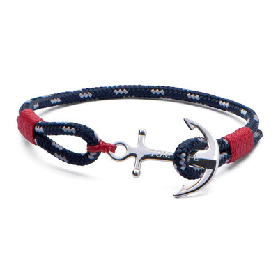 ATLANTIC RED - Bracelet rojo/azul/plateado